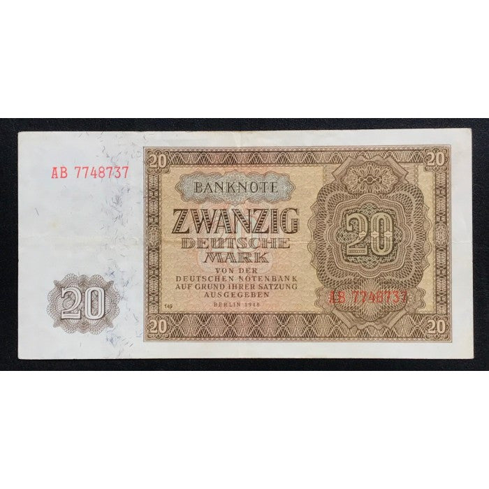 Germany, Democratic Republic 1948 20 Deutsche Mark