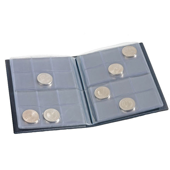 Lighthouse Coin Wallet with 8 Coin Sheets for 12 Coins