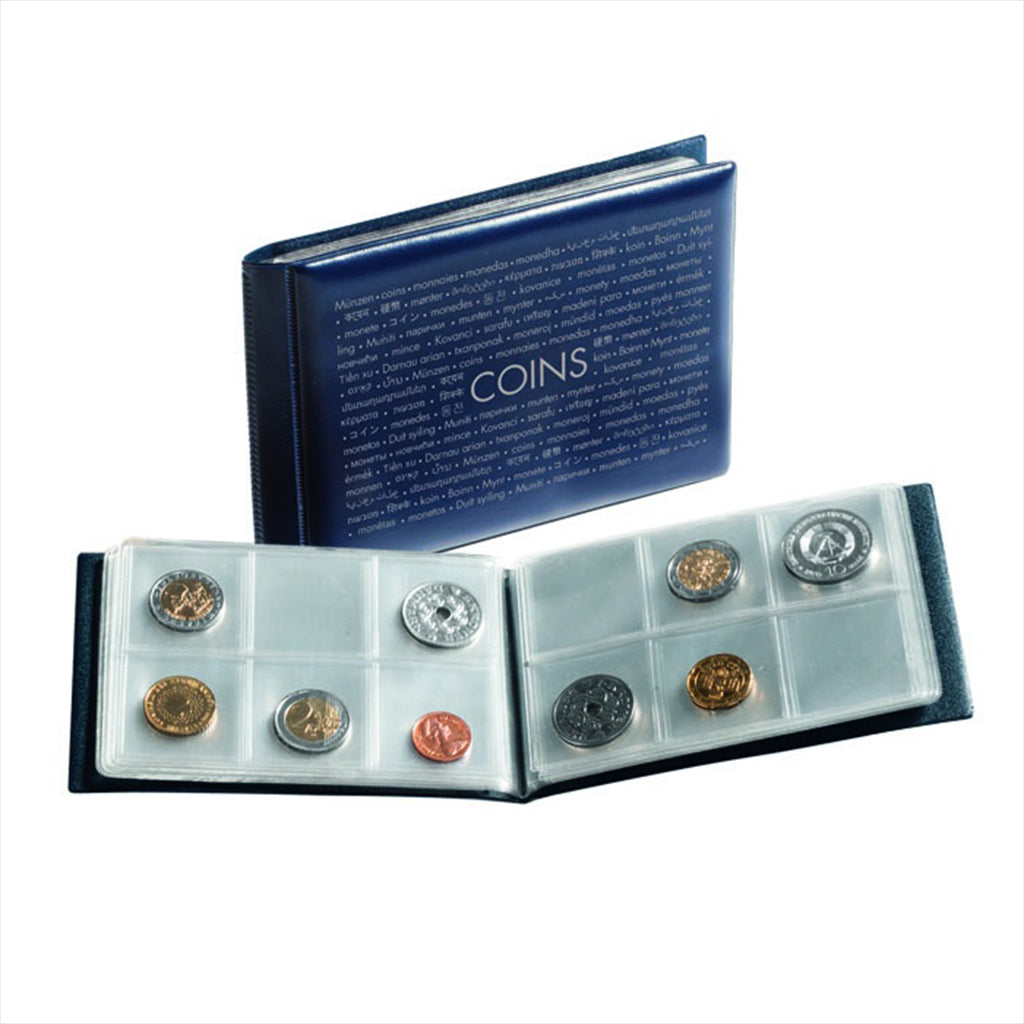 Lighthouse Coin Wallet with 8 Coin Sheets for 6 Coins