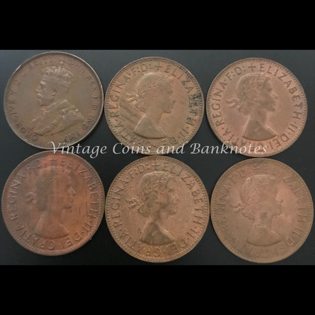 1927, 1957, 1960, 1962, 1963 and 1964 Penny Set from VF to UNC