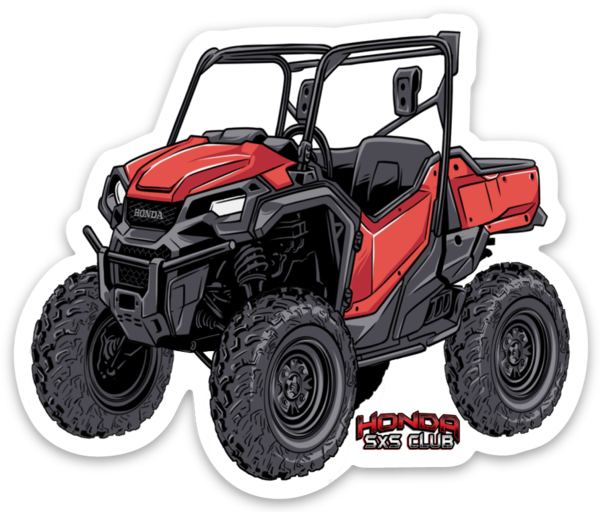 Honda Pioneer 1000 Red Sticker - Free shipping!