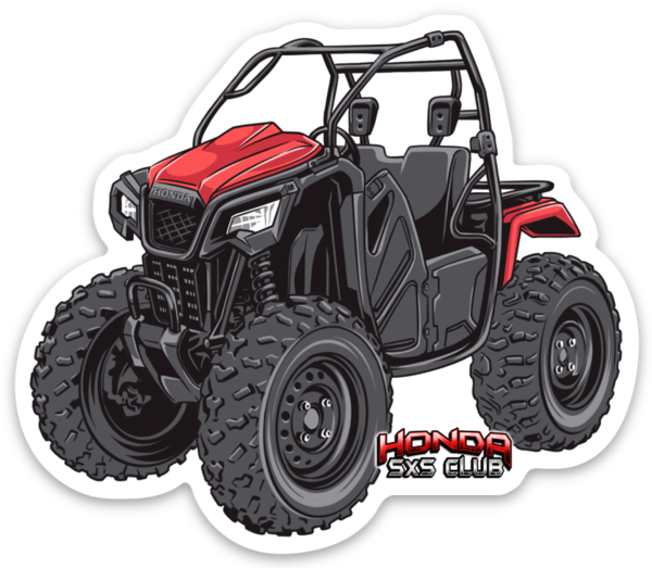 Honda Pioneer 500 Red Sticker