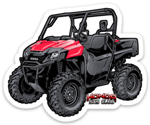 Honda Pioneer 700 Red Sticker - Free Shipping!