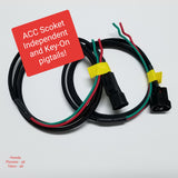 ACC Socket Independent and KEY-ON Pigtails. Honda Pioneer 500, 700, 1000 / Talon 1000