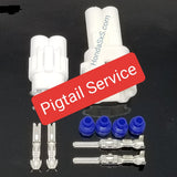 MT2 - 2 Pin Male & Female Plug Connector Set for Honda UTV, SxS, ATV. Wire connector with Terminals and seals.