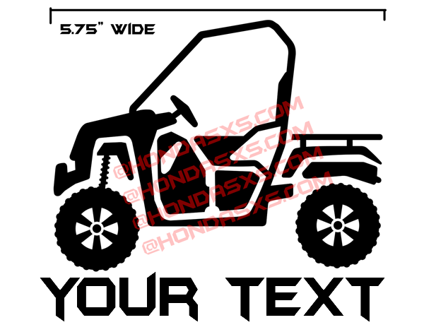 Pioneer 500 Vinyl Decal - With Your own Custom TEXT!