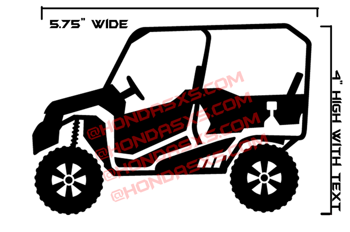 Pioneer 1000 5 1000 3 Vinyl Decal The Honda Sxs Club