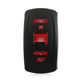 Winch in/out flush mount switch for Honda Pioneer.