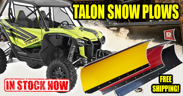 Honda Talon Snow Plows - NOW IN STOCK!