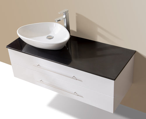 1200mm Wall Hung Bathroom Vanity Unit With Stone Top, Basin - Della Francesca