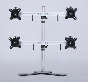 Quad/4/Four XL LCD Monitor Desktop Freestanding Mount Stand