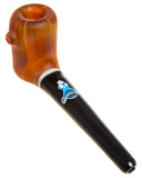 Manhattan Traditional Wood Grain Glass Pipe