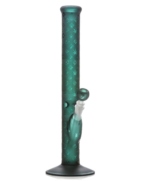 "18"" LV Pattern Water Pipe TEAL"