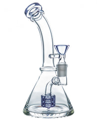 "7"" Bent Neck Matrix Perc Beaker Base Bong"