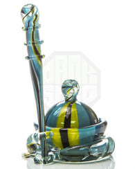 Teal/Yellow Dish and Dabber Set