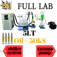 cartridge Oil Steam Short Path Distillation Kit w/Magnetic Stirring 5L 5000ML