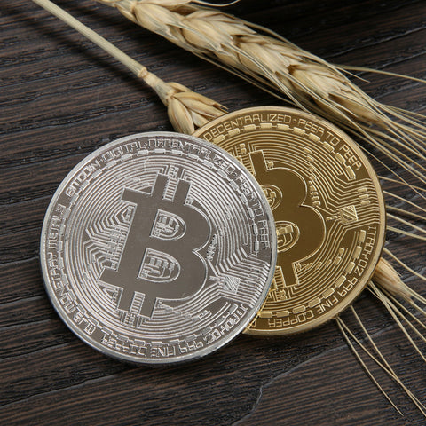 Gold/Silver Plated Collectible Bitcoin