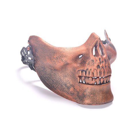 Skull Mask Half Face Cosplay Costume