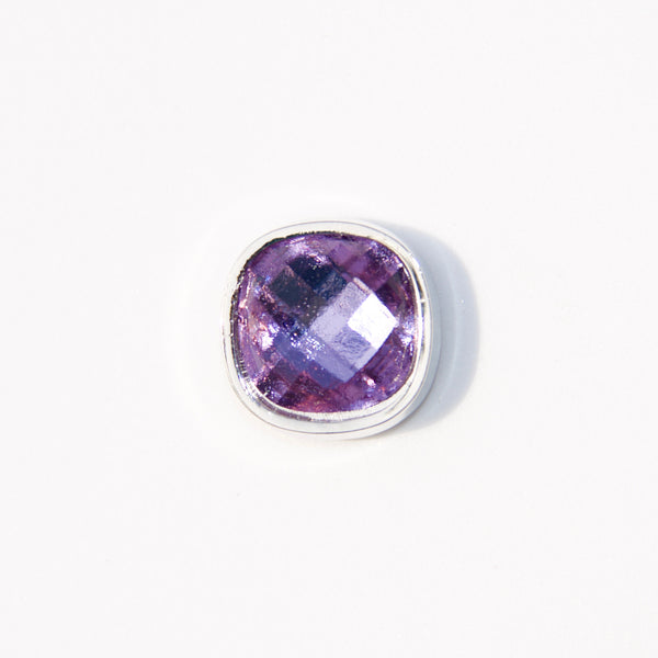 Faceted Glass Gemstone - Light Purple - Tiny Tude