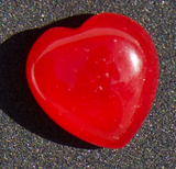 Red Jade Heart Megatude natural stone
