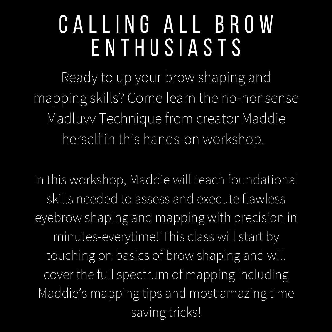 Eyebrow Mapping and Shaping Workshop (Saturday Nov 16 from 10am-1pm)