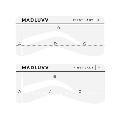 New! Low Profile 6 Stencil Eyebrow Shaping Set