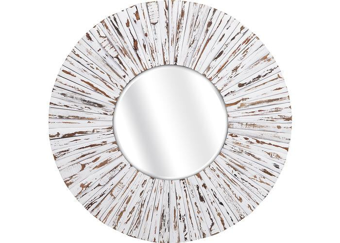 Sadie White Wooden Mirror - Free Shipping!, Mirrors, IMAX, - ReeceFurniture.com - Free Local Pick Ups: Frankenmuth, MI, Indianapolis, IN, Chicago Ridge, IL, and Detroit, MI