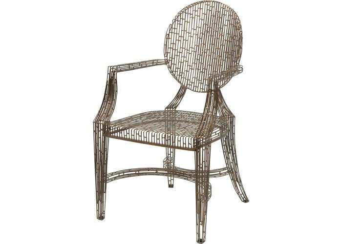 Wilkins Handcrafted Metal Arm Chair - Free Shipping!, Seating, IMAX, - ReeceFurniture.com - Free Local Pick Ups: Frankenmuth, MI, Indianapolis, IN, Chicago Ridge, IL, and Detroit, MI