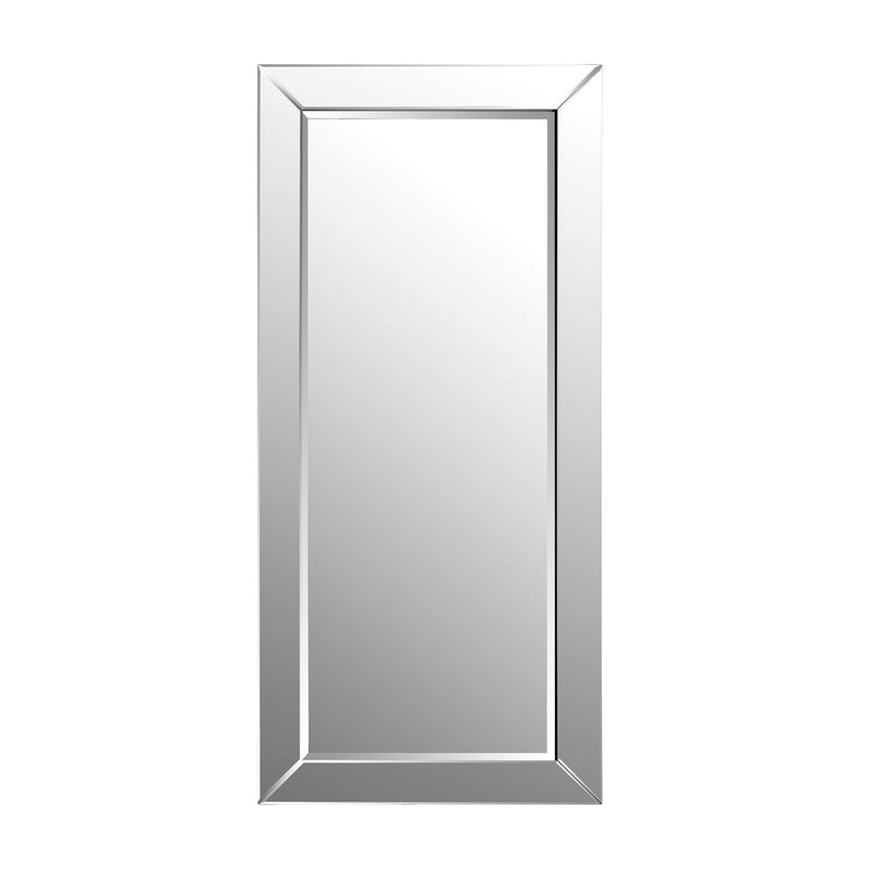 1114-157 Glass Framed Leaning Floor Mirror - Free Shipping! Mirror - RauFurniture.com