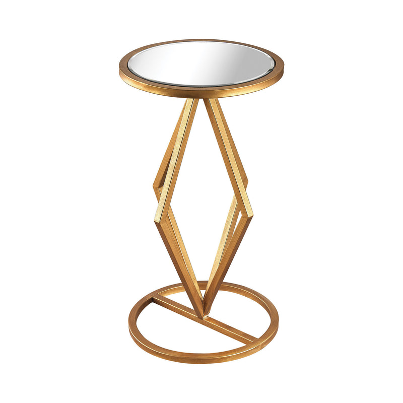 1114-207 Vanguard Side Table In Gold Leaf And Clear Mirror - Free Shipping! Table - RauFurniture.com