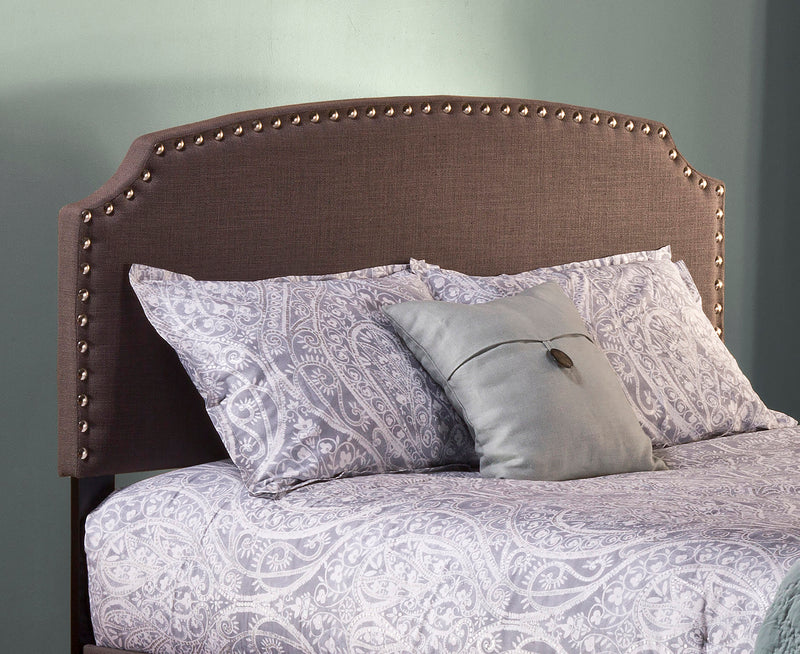 100955 Lani Upholstered Headboard - Full - Dark Linen Gray - Headboard Frame Not Included Hillsdale Headboard - RauFurniture.com