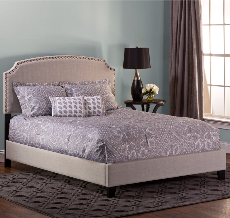 102300 Lani Bed - Queen - Rails Included - Light Linen Gray Hillsdale Bed - RauFurniture.com