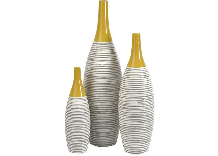 Andean Multi Glaze Vases - Set of 3 - Free Shipping!, Vases, IMAX, - ReeceFurniture.com - Free Local Pick Ups: Frankenmuth, MI, Indianapolis, IN, Chicago Ridge, IL, and Detroit, MI