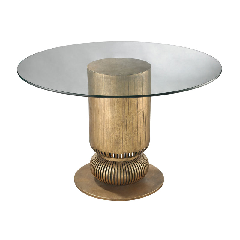 114-119 Sock Bun Entry Table In Gold Leaf - Free Shipping! Table - RauFurniture.com