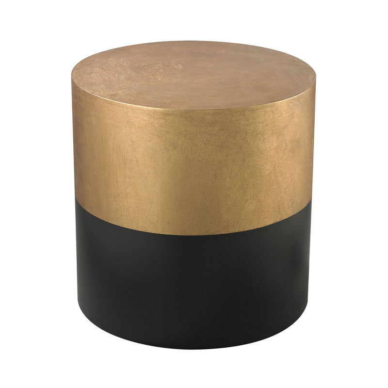 114-121 Draper Drum Table In Black And Gold - Free Shipping! Table - RauFurniture.com