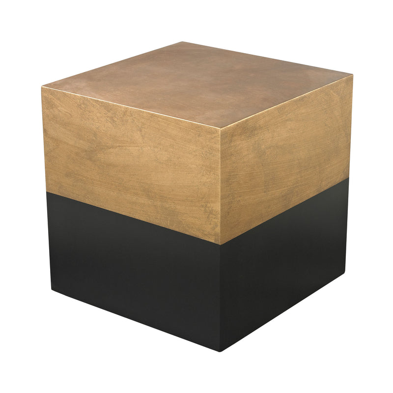 114-122 Draper Cube Table In Black And Gold - Free Shipping! Table - RauFurniture.com