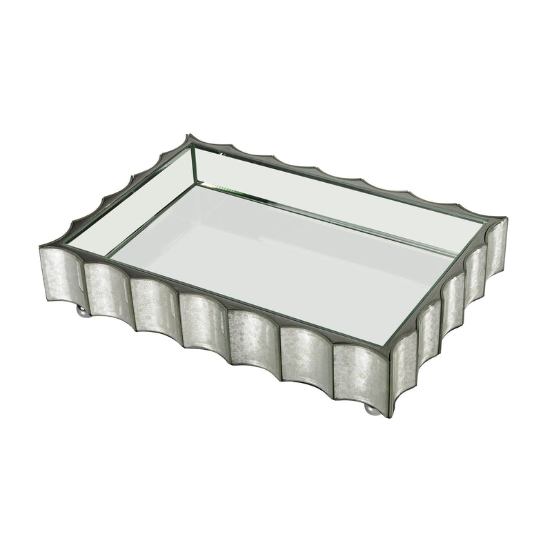 114-128 Small Scalloped Edge Mirror Tray - Free Shipping! Tray - RauFurniture.com