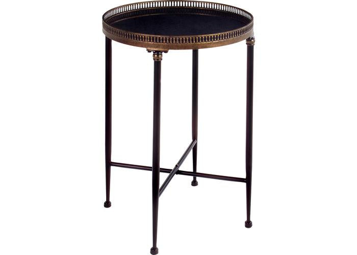 Round Black Accent Table - Free Shipping!, Occasional Tables, IMAX, - ReeceFurniture.com - Free Local Pick Ups: Frankenmuth, MI, Indianapolis, IN, Chicago Ridge, IL, and Detroit, MI