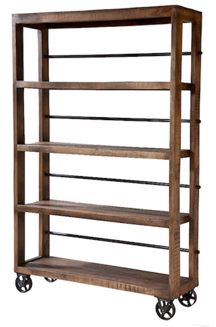 12341 -  Hayden Rolling Wood Shelving Unit - Free Shipping!, Shelving Unit, Stein World, - ReeceFurniture.com - Free Local Pick Ups: Frankenmuth, MI, Indianapolis, IN, Chicago Ridge, IL, and Detroit, MI