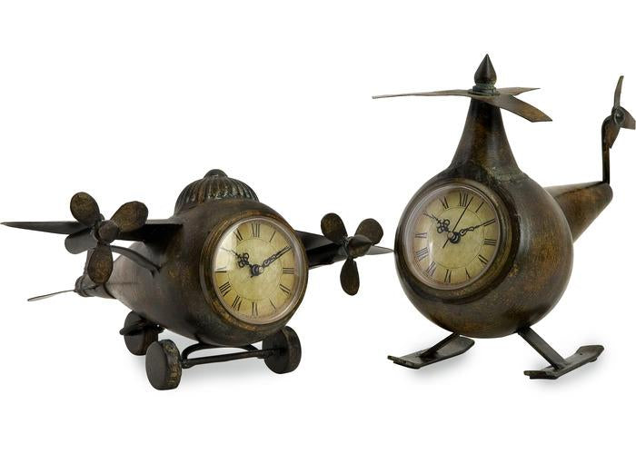 Lindbergh Aviation Clocks - Set of 2 - Free Shipping!, Table Clocks, IMAX, - ReeceFurniture.com - Free Local Pick Ups: Frankenmuth, MI, Indianapolis, IN, Chicago Ridge, IL, and Detroit, MI