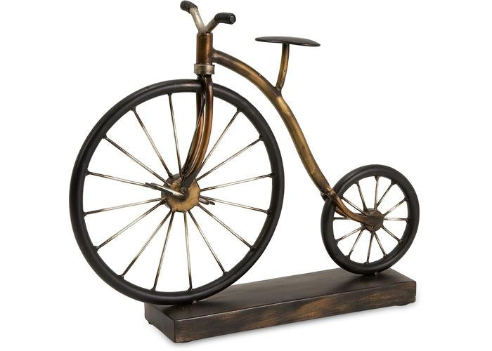 Big Wheel Bicycle Statuary - Free Shipping!, Statuary, IMAX, - ReeceFurniture.com - Free Local Pick Ups: Frankenmuth, MI, Indianapolis, IN, Chicago Ridge, IL, and Detroit, MI
