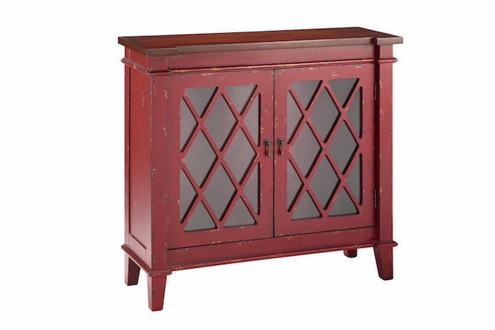 13013 - Goshen Two Door Cabinet in Red - Free Shipping!, Accent Cabinets, Stein World, - ReeceFurniture.com - Free Local Pick Ups: Frankenmuth, MI, Indianapolis, IN, Chicago Ridge, IL, and Detroit, MI