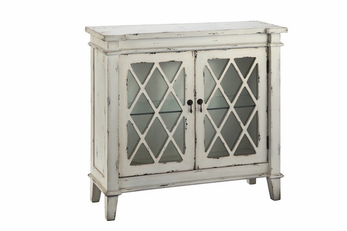 13014 - Goshen Two Door Cabinet Antique White - Free Shipping!, Accent Cabinets, Stein World, - ReeceFurniture.com - Free Local Pick Ups: Frankenmuth, MI, Indianapolis, IN, Chicago Ridge, IL, and Detroit, MI
