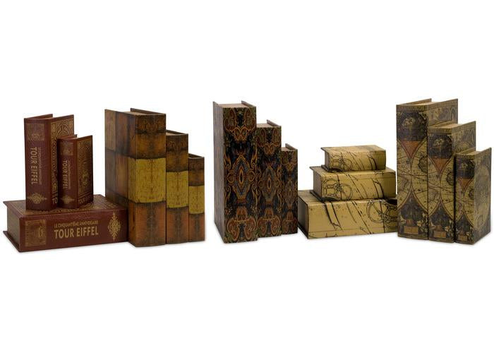 Convenience Book Boxes - Set of 15 - Free Shipping!, Book Boxes, IMAX, - ReeceFurniture.com - Free Local Pick Ups: Frankenmuth, MI, Indianapolis, IN, Chicago Ridge, IL, and Detroit, MI