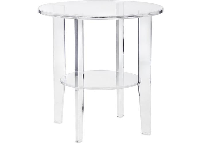 Estelle Acrylic Accent Table - Free Shipping!, Occasional Tables, IMAX, - ReeceFurniture.com - Free Local Pick Ups: Frankenmuth, MI, Indianapolis, IN, Chicago Ridge, IL, and Detroit, MI