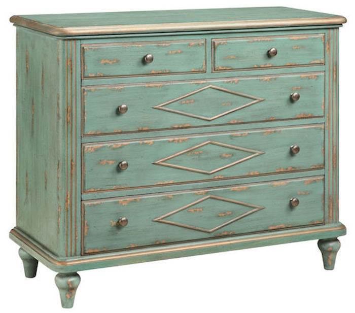 13220 - Danielle Five Drawer Accent Chest - Free Shipping!, Accent Chests, Stein World, - ReeceFurniture.com - Free Local Pick Ups: Frankenmuth, MI, Indianapolis, IN, Chicago Ridge, IL, and Detroit, MI
