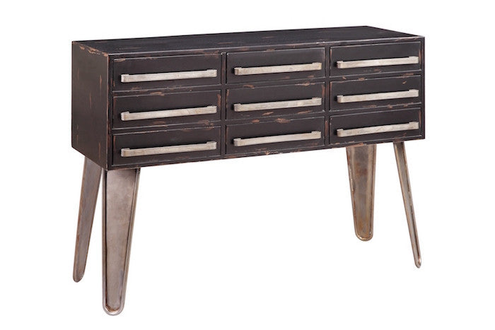 13260 - Woodrow  Nine Drawer Console - Free Shipping!, Accent Consoles, Stein World, - ReeceFurniture.com - Free Local Pick Ups: Frankenmuth, MI, Indianapolis, IN, Chicago Ridge, IL, and Detroit, MI