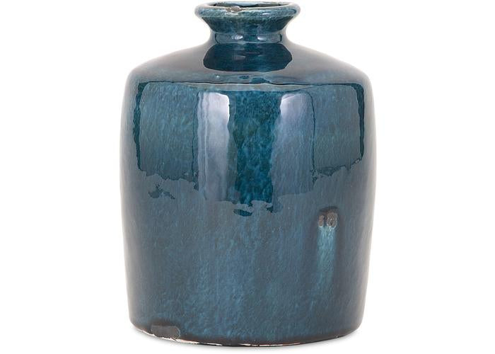 Arlo Small Blue Vase - Free Shipping!, Vases, IMAX, - ReeceFurniture.com - Free Local Pick Ups: Frankenmuth, MI, Indianapolis, IN, Chicago Ridge, IL, and Detroit, MI