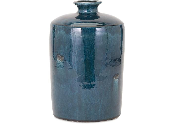 Arlo Medium Blue Vase - Free Shipping!, Vases, IMAX, - ReeceFurniture.com - Free Local Pick Ups: Frankenmuth, MI, Indianapolis, IN, Chicago Ridge, IL, and Detroit, MI