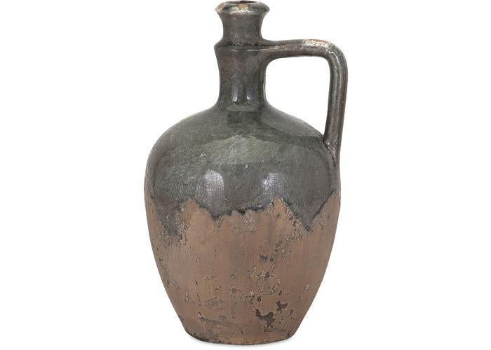 Bardot Small Blue Stone Ceramic Jug - Free Shipping!, Containers-Ceramic, IMAX, - ReeceFurniture.com - Free Local Pick Ups: Frankenmuth, MI, Indianapolis, IN, Chicago Ridge, IL, and Detroit, MI